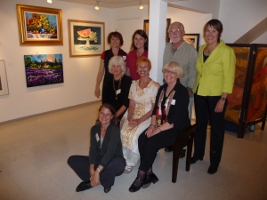 Members of the Salt Spring Artist's Gallery celebrate following the opening event