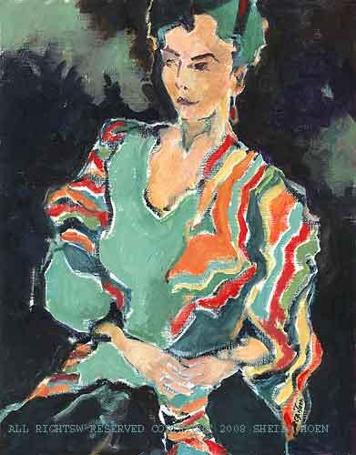 Painting - Dama Confidente Y Sensual by Sheila Hoen